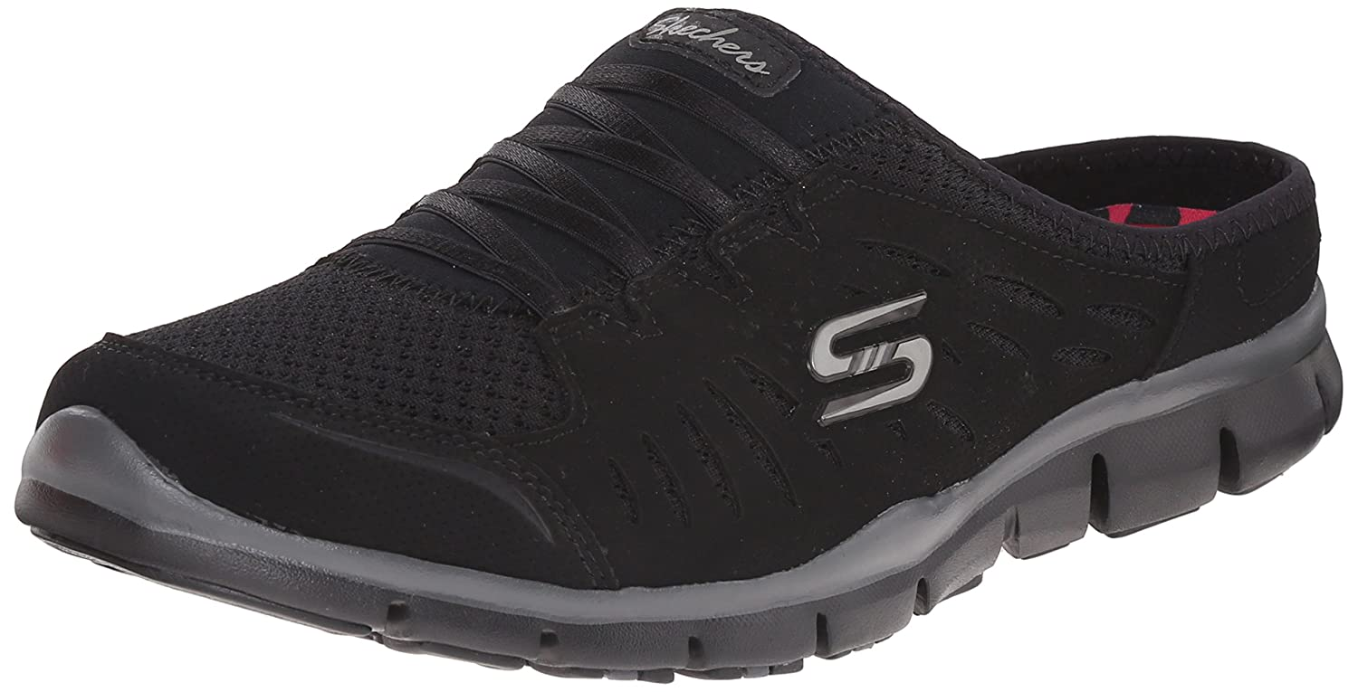 Skechers Sport Women's No Limits Slip-On Mule Sneaker B014EY278U 7.5 M US|Black