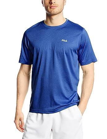 f935b3dc968ed Fila Tennis Men's Short Sleeve Crew Shirt, Surf The Web, Large ...