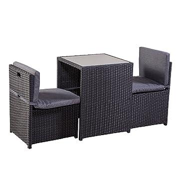 balkonm bel set platzsparend. Black Bedroom Furniture Sets. Home Design Ideas