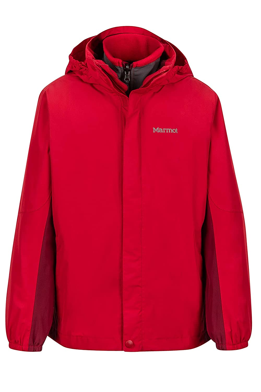 Marmot Northshore Boys' Waterproof Hooded Rain Jacket with Removable Fleece Liner