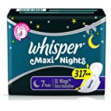 Whisper Maxi Overnight Sanitary Pads - XL Wings (7 Count)