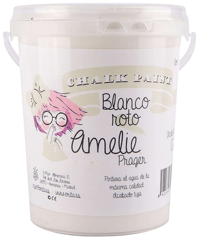 Amelie Prager 3000-02 Pintura a la Tiza chalk, Blanco Roto, 3 l ...