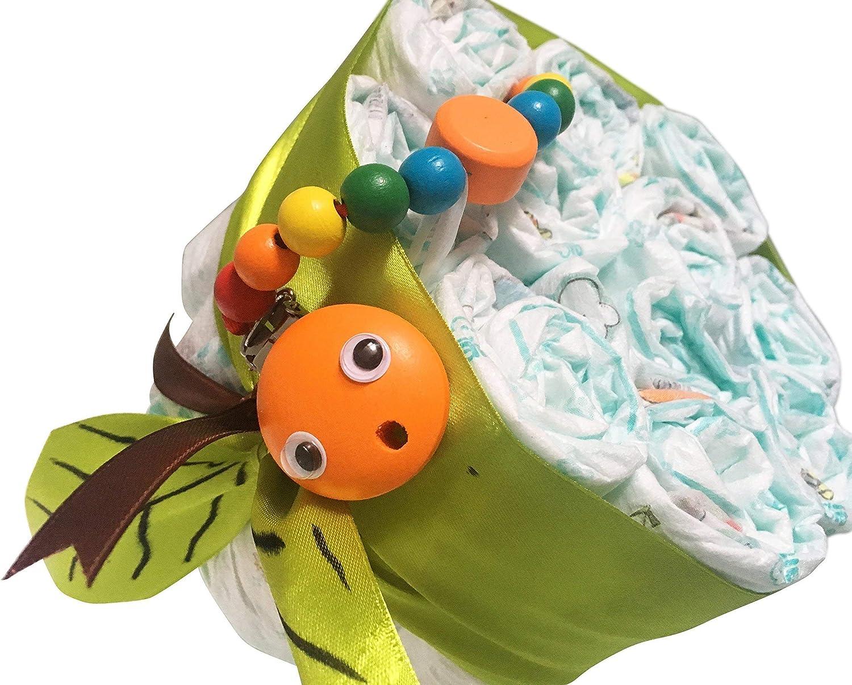 Nuevo regalo de beb/é Apple Nr. 3 Set para regalo de baby shower nuevo beb/é ni/ña regalo para los nuevos padres Manzana de pa/ñales Pampers 3 Pastel de pa/ñales unisex para ni/ña o ni/ño