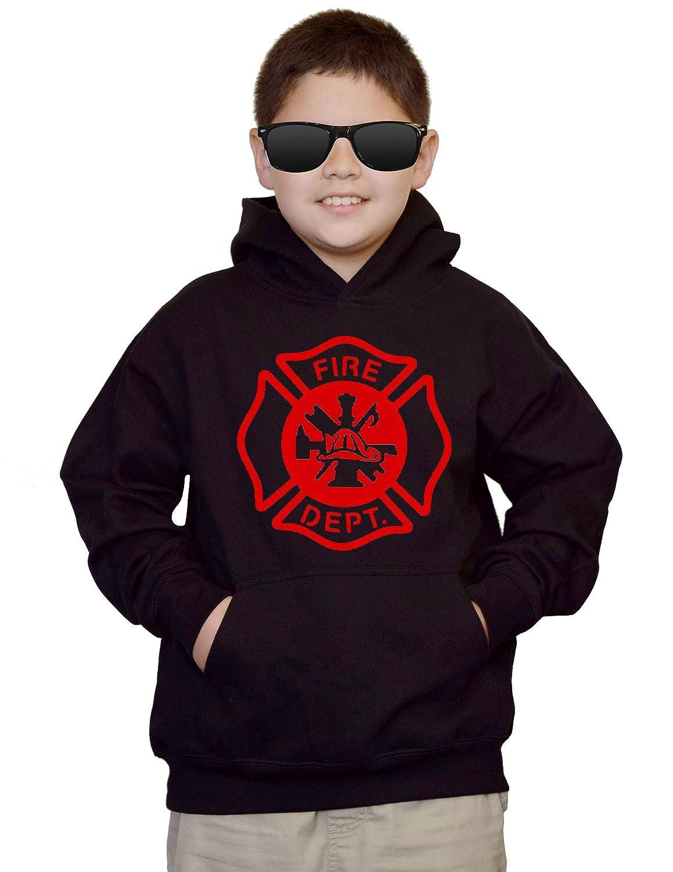 Youth Fire Dept V484 Black kids Sweatshirt Hoodie