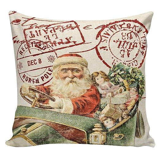 Almohada de Navidad Cojín Estilo francés Matasellos de Tonos ...