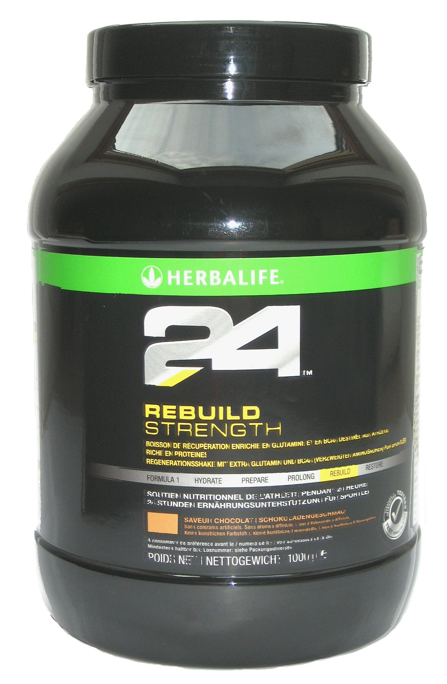Herbalife 24 Rebuild Strength (Chocolate 35.6oz Canister)