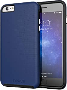 Crave iPhone 6S Plus Case, Dual Guard Protection Series Case for iPhone 6 6s Plus (5.5 Inch) - Navy