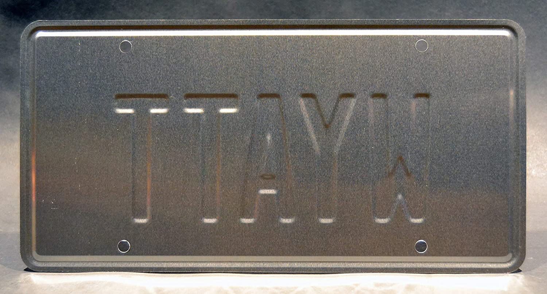 Weird Science Wyatt Metal Stamped License Plate