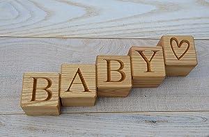 Personalized Wood Blocks - Personalized Baby Letter Blocks - Wood Letter Blocks - Custom Wood Blocks - Nursery Decor - Name Blocks