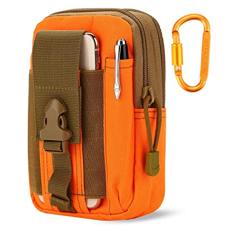 CARRY TRIP Tactical Outdoor Waist Bag Multifunctional Molle Pouch (Orange) Waist Bags at amazon