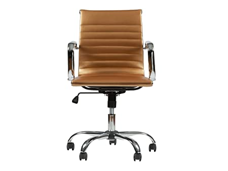 MID-Back Leather Executive Desk Chair MZN-5051L Gold