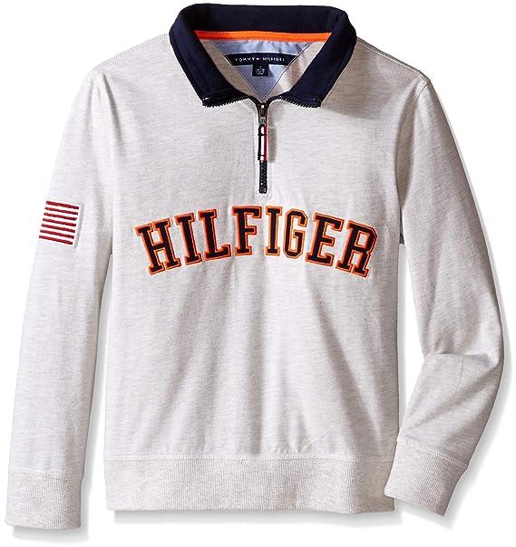 ca5c34b944ec Tommy Hilfiger Big Boys  Half Zip Pullover Sweater