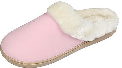 fce0f7005ca1 Luxehome Women s Cozy Fleece House Footwear Slippers(1-08) (M