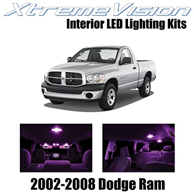 XtremeVision Interior LED for Dodge Ram 2002-2008 (10 Pieces) Pink Interior LED Kit + Installation Tool: Automotive