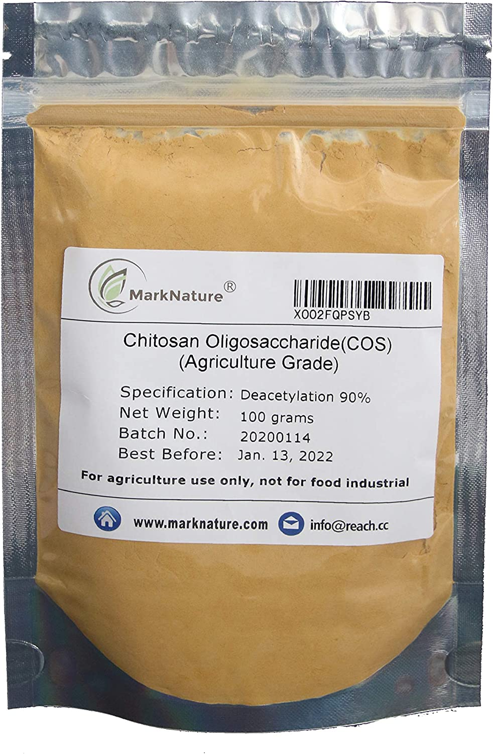 MarkNature Chitosan Oligosaccharide, High Active Water Soluble Powder for Plants, Agriculture Grade COS 100g (3.5 oz)