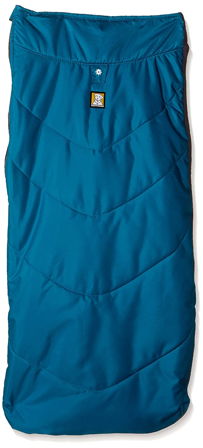 Baja bluee XLRuffwear Insulated Dog Jacket with Fleece Lining, Wind and Water Resistant, Medium Sized Breeds, Size  Medium, Red Currant, Powder Hound, 0570615M
