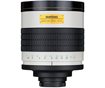 Spiegellen Bad samyang 800mm mirror f8 t mount manual focus lens amazon co uk