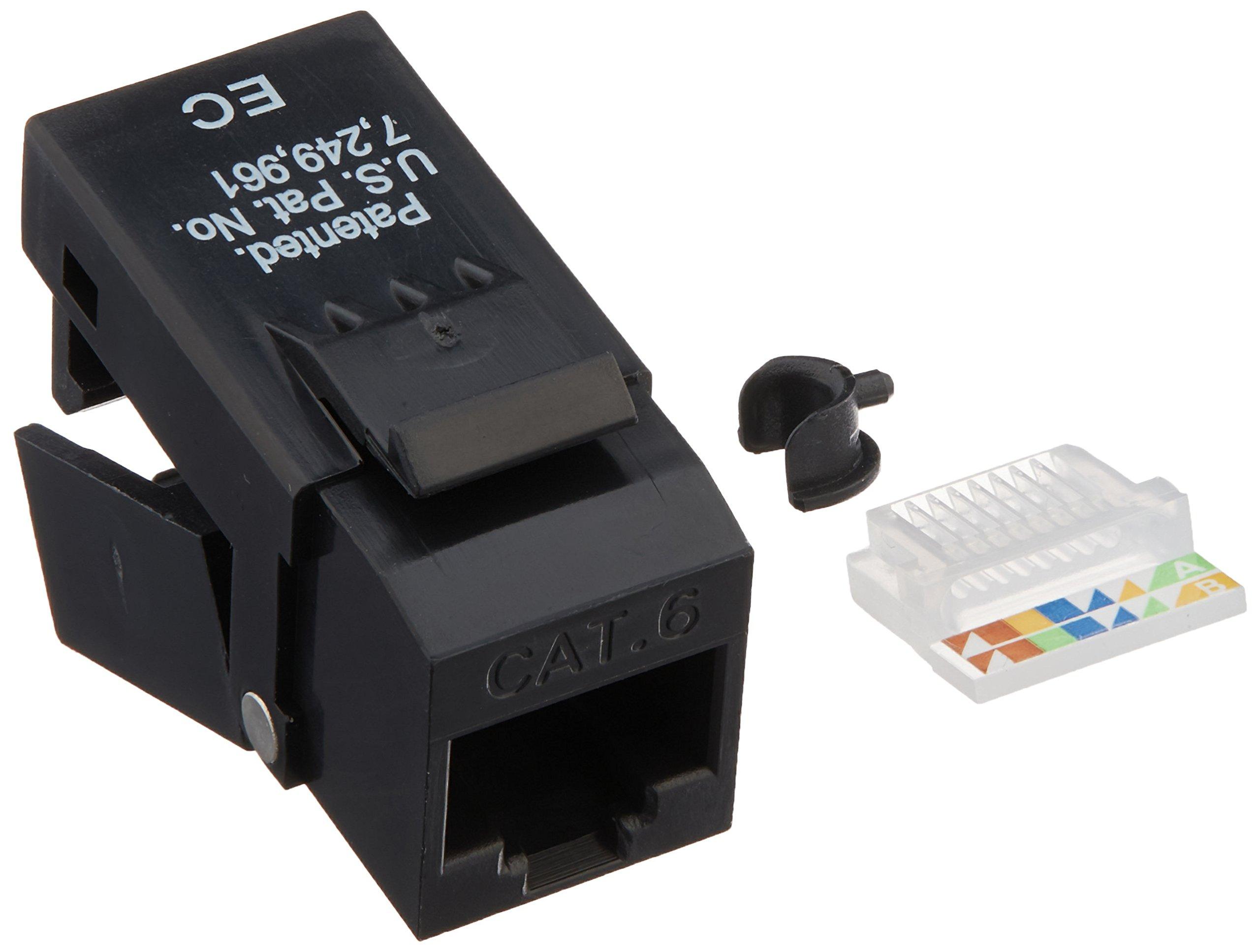 Platinum Tools EZ-SnapJack Cat6, Black. 40 pc/Installer Pack.