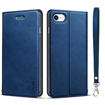 bab7aa9f35 iphone8 ケース iphone7ケース 手帳型 [カード収納 スタンド機能] 衝撃吸収 マグネット式