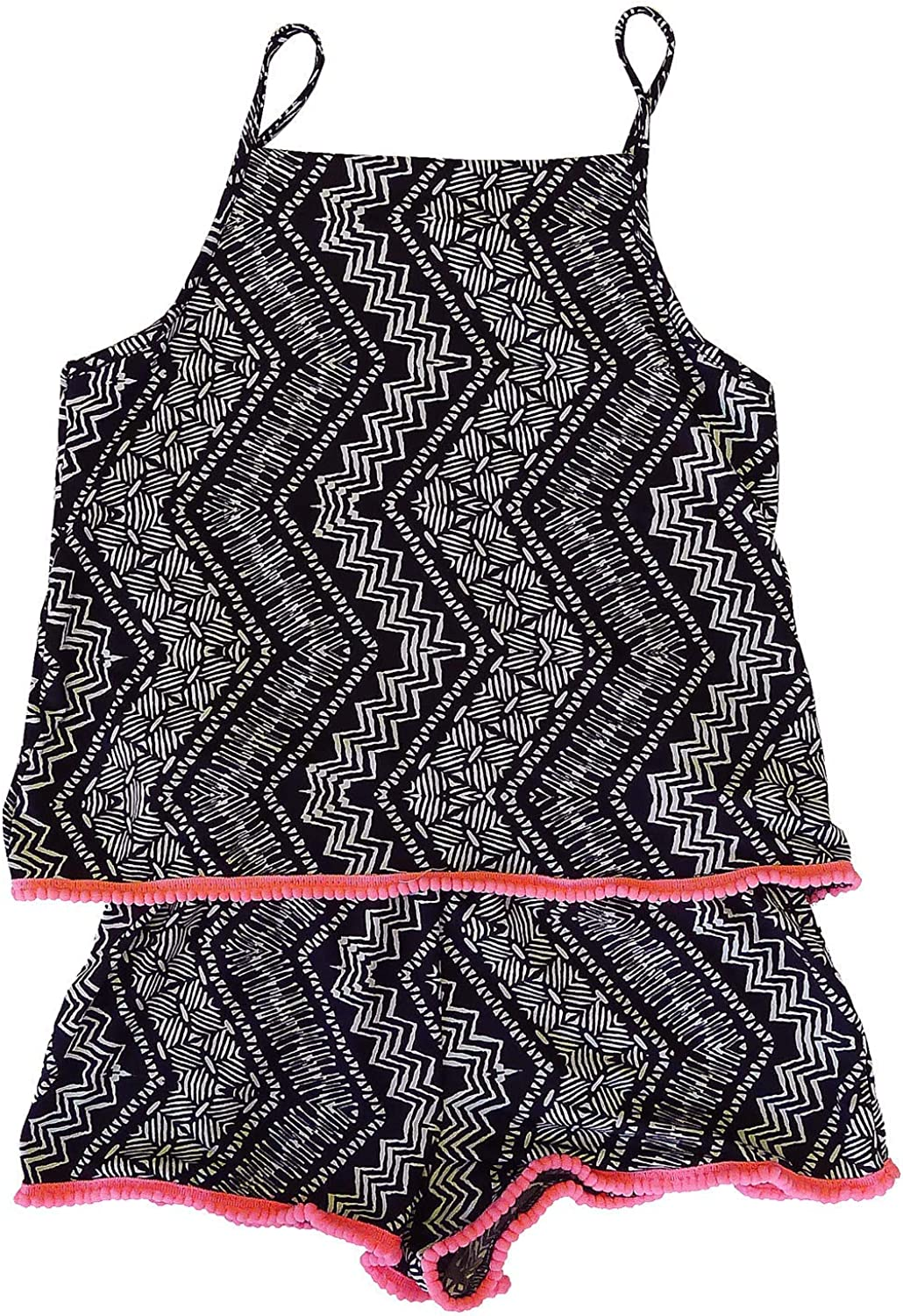 Get Wivvit Girls Pom Pom Trim Summer Fashion Shorts Playsuit Strappy Romper Sizes from 6 to 14 Years