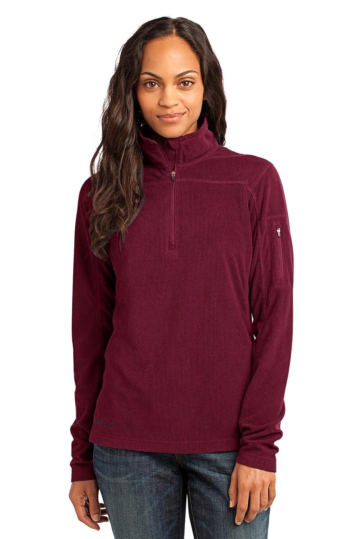 Eddie Bauer - Ladies 1/4-Zip Grid Fleece Pullover at Amazon ...