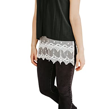 e176ed50591 Boot Cuff Socks Lace Camisole Tank Top and Shirt Extender for Women  (Pointed Design) - Plus Size Available at Amazon Women s Clothing store