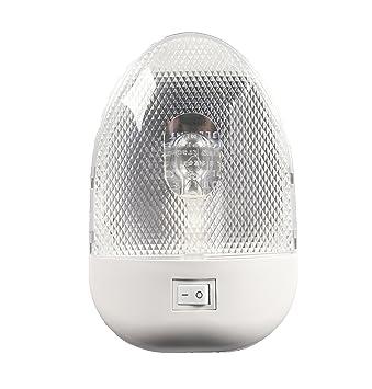 Facon - Luz LED Ovalada DE 12 V para Autocaravana con Interruptor y Bombilla reemplazable: Amazon.es: Coche y moto