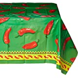 Beistle 57301 Chili Pepper Tablecover, 54 by 108-Inch