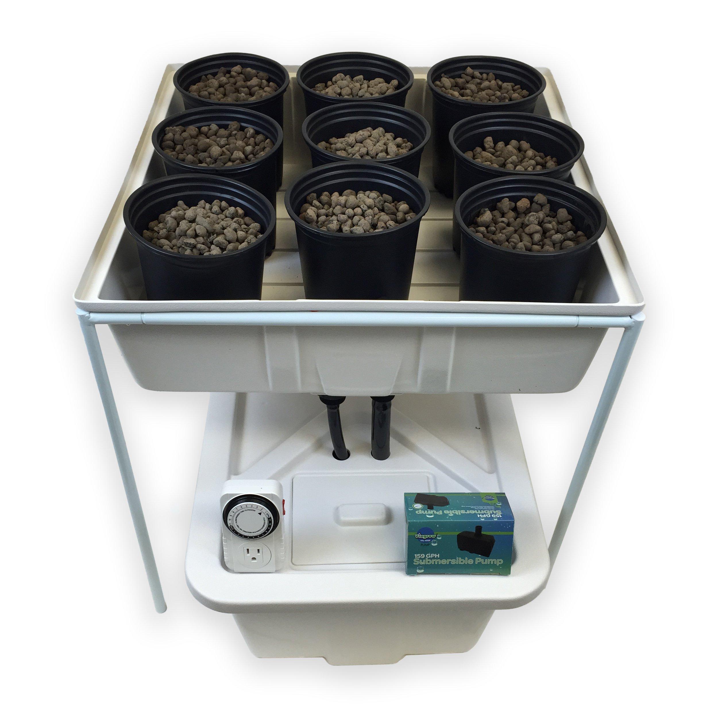 Viagrow Complete 2 ft. x 2 Ft. Ebb & Flow Hydroponics System