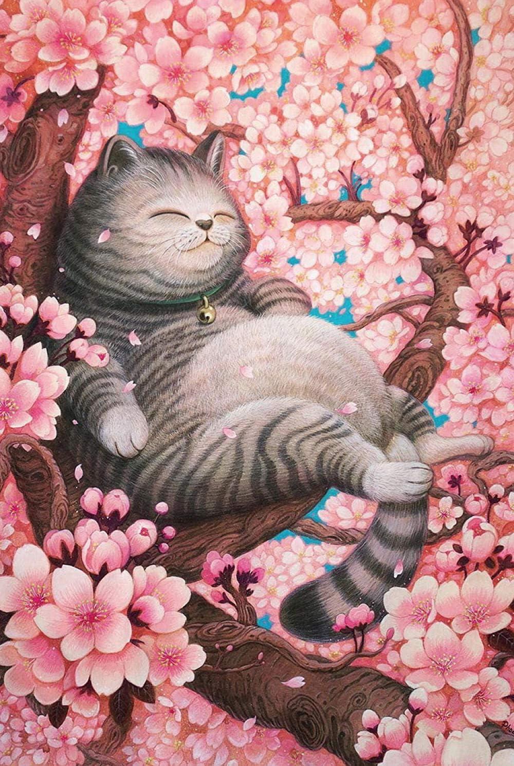Rompecabezas de Madera Sakura y Gato, 1000 Piezas, versión ...
