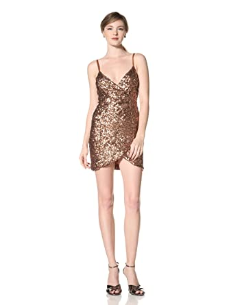 9bfb1fc1f03 Amazon.com: French Connection Women's Shirley Sequined Slip Dress ...