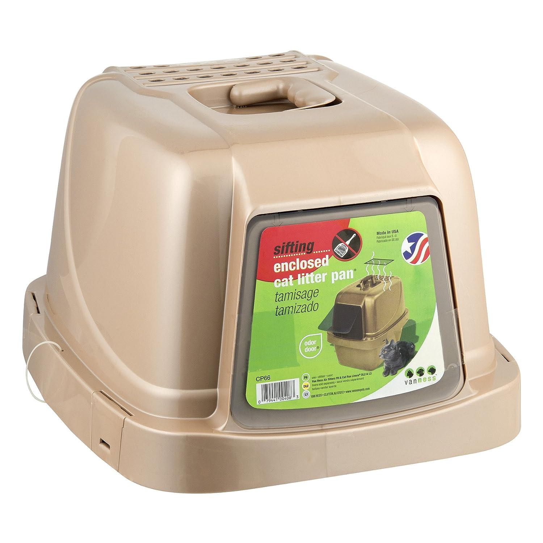 Amazon.com : Van Ness Pureness Covered Cat Litter Box : Pet ...