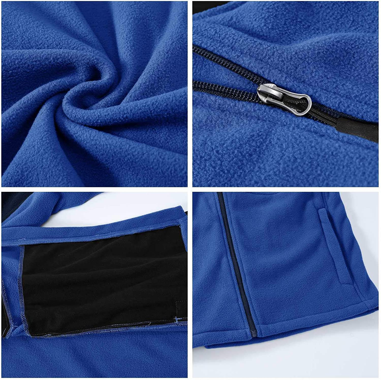 Rdruko Mens Softshell Jacket Fleece Windproof Lightweight Outdoor Jackets Full Zip Hiking Work Outwear