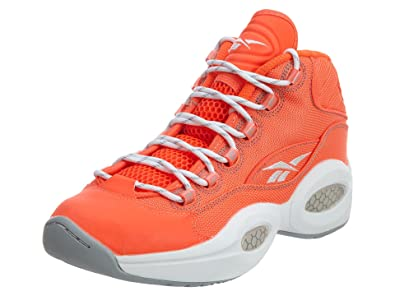 2368b3d40b7 Reebok Men s Question Mid Otss Atomic Red Baseball Grey Athletic Shoe