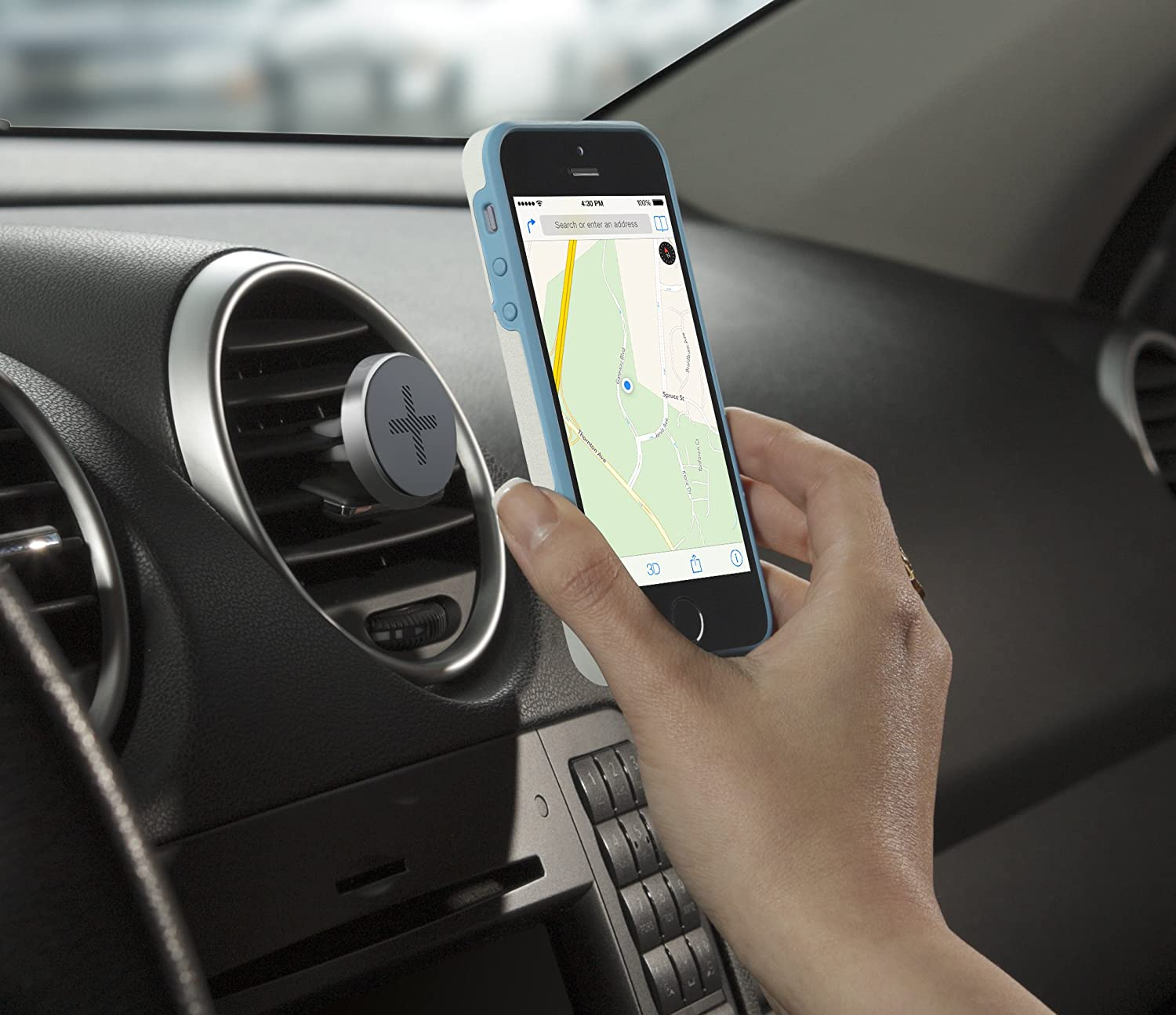 Trip One-Touch Smartphone Airvent Magnetic Car Mount 989-000119 Logitech