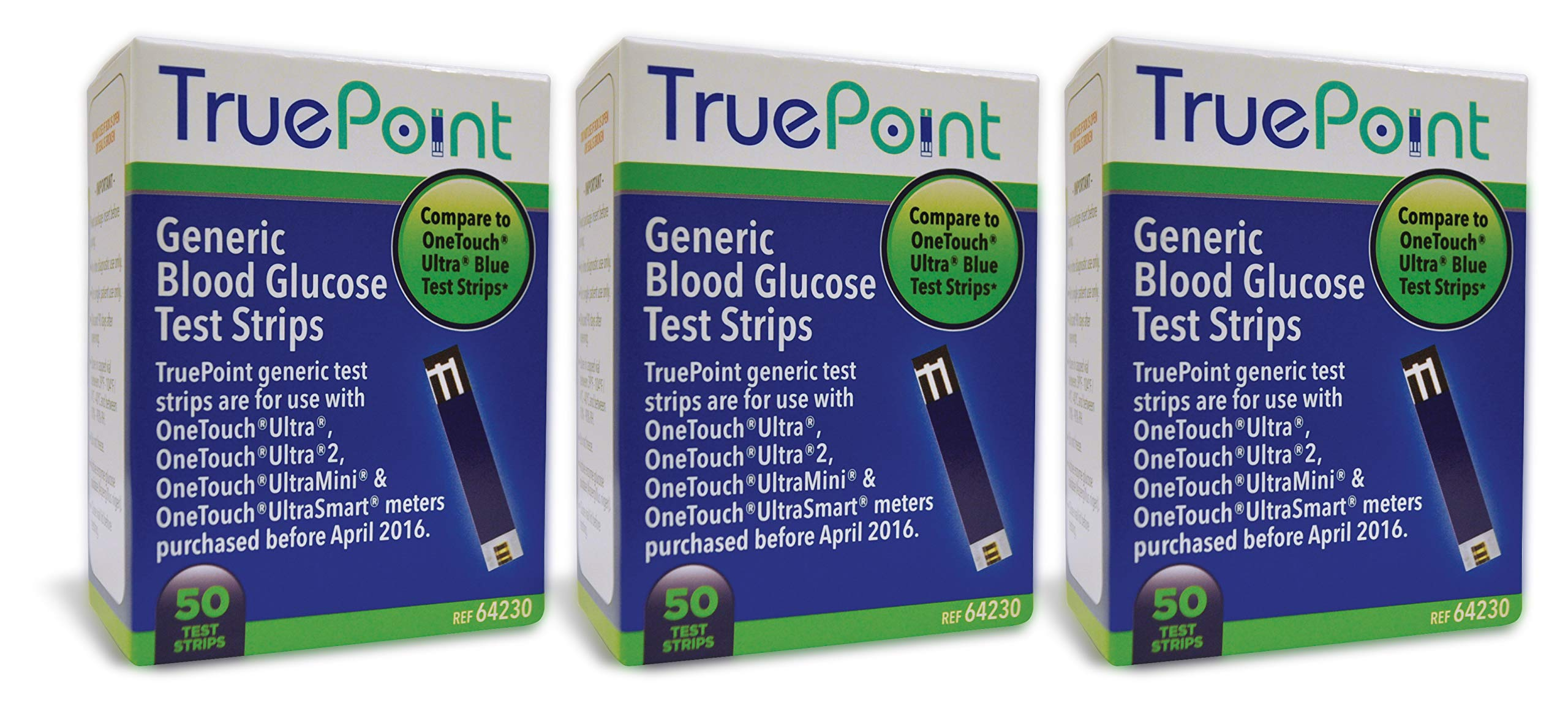 True Point Generic Test Strips 150 Count for Use with One Touch Ultra, Ultra 2 and Ultra Mini Meter. by True Point Generic Test Strips