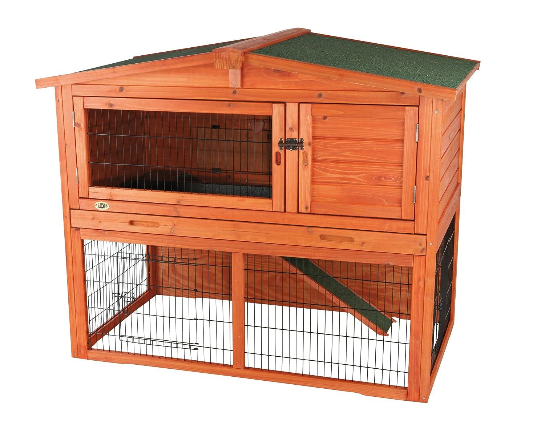 Trixie 62321 Natura Kaninchenstall mit Freigehege 123 × 96 × 76 cm, braun
