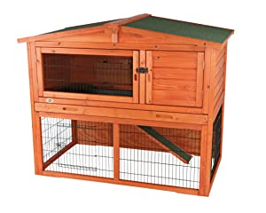TRIXIE Pet Products Rabbit Hutch with Attic