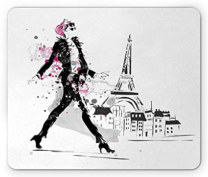 b2208e14ab276 Amazon.com : Fashion Mouse Pad, Splattered Watercolor Effect Young ...
