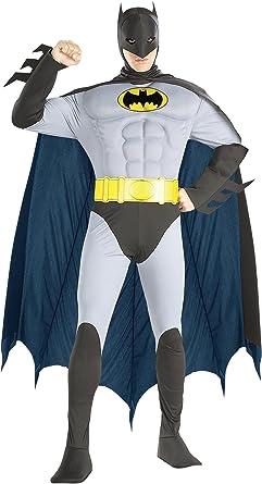 Amazon.com: De los hombres Batman Músculo Pecho Disfraz, L ...