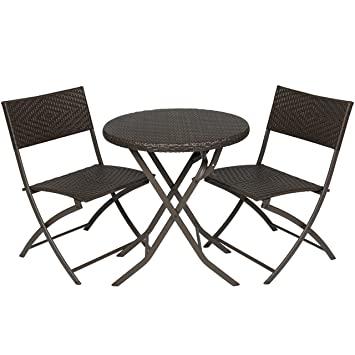 Best Choice Products 3pc Rattan Patio Bistro Set Hand Woven Furniture. Amazon com  Best Choice Products 3pc Rattan Patio Bistro Set Hand