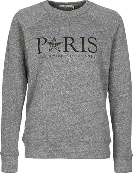 Girocollo Paris Grigia Melange Zones Time Obey Felpa Grey Donna u1TFJlKc35