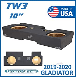 "Fits 2019-2020 Jeep Gladiator 10"" Dual Sealed Subwoofer Enclosure/sub Box for JL Audio TW3"