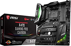 MSI Performance Gaming AMD X470 Ryzen 2 AM4 DDR4 Onboard Graphics SLI ATX Motherboard (X470 Gaming PRO Carbon) (Renewed)