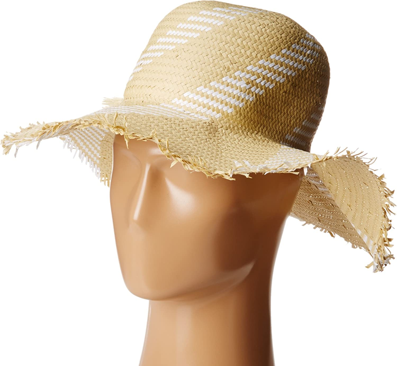 BCBGMAXAZRIA Women's Pom Floppy Hat White One Size BCBGMAXAZRIA Women' s Accessories HB101504