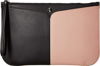 2a941983d1d Kate Spade New York Women's Nicola Bicolor Large Wristlet Black/Flapper  Pink One Size