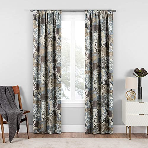 ECLIPSE Room Darkening Curtains for Bedroom – Chiswick 37 x 63 Thermal Insulated Single Panel-Rod Pocket Light Blocking Curtains for Living Room, Spa