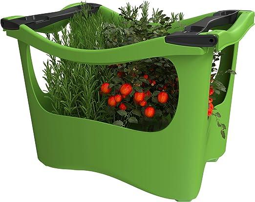 U-greeny Pflanzbox Macetero para balcón, jardín y terraza, Sistema de Drenaje de Agua Integrado, Resistente a la Intemperie, Color Verde: Amazon.es: Jardín