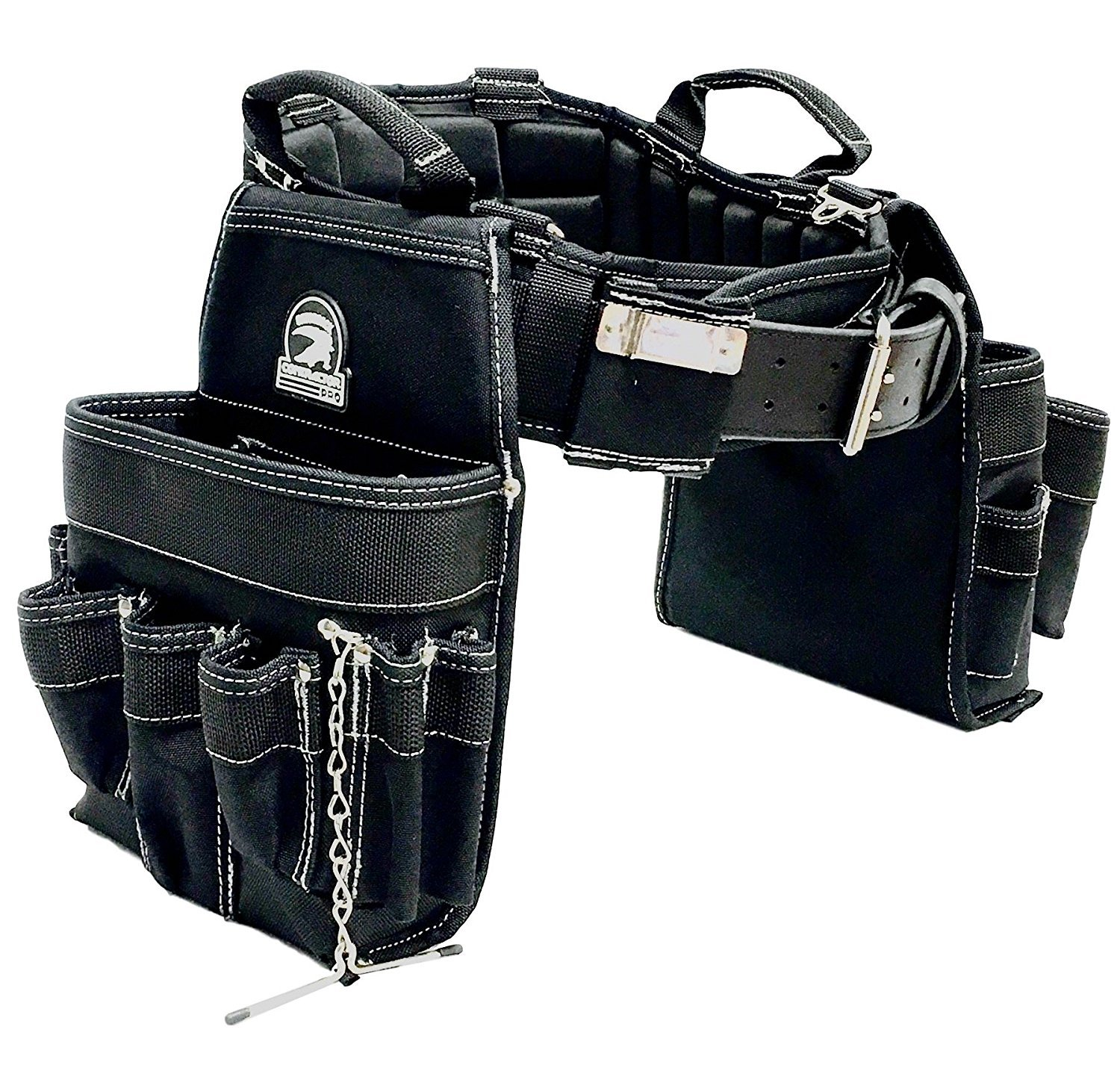 TradeGear Medium Electrician Combo Belt & Bags, Maximum Comfort, Durable & Heavy-Duty (31-34'') Partnered with Gatorback Contractor Pro by TradeGear