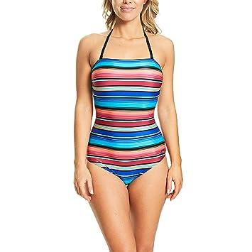 b03e5ad730c40 Zoggs Women Mexicali Removable Strap Halter Neck Eco Fabric Swimsuit